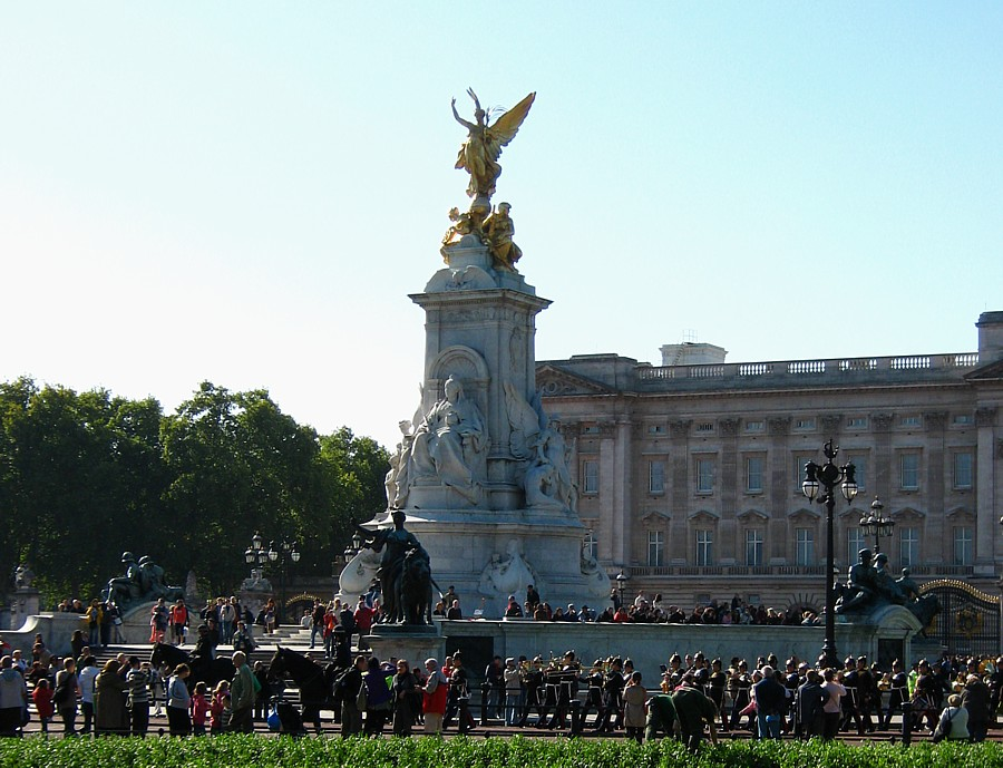 Marching Parade outside Buckingham Palace