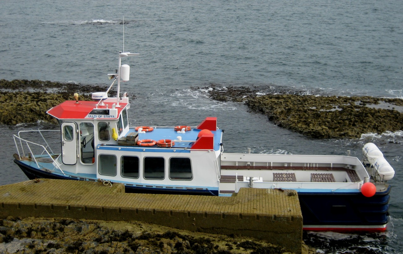 Trip Boat Landing at Staffa