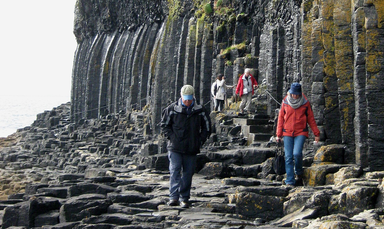 Causeway towards Fingal's Cave