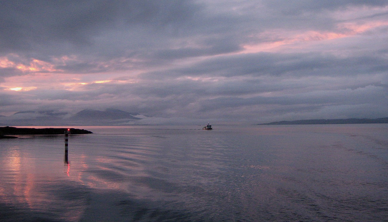 The days end approaching Oban